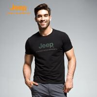 【全场2.5折起】Jeep/吉普 2017夏季男士户外舒适透气速干排汗T恤J671011871