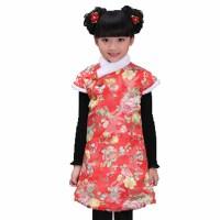 户外过年贺岁喜庆儿童唐装女童棉旗袍装之小格格 棉服