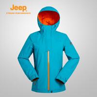 Jeep/吉普 女士冬季新款夹棉滑雪服棉服户外加厚外套J658010695
