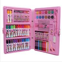 专柜特价 迪士尼米奇90件美劳派礼盒 文具套装水彩笔 学生大礼盒 粉色