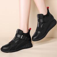 莫蕾蔻蕾 女鞋内增高运动休闲鞋韩版高帮厚底单鞋松糕鞋加绒棉鞋 6D660