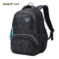 卡拉羊双肩包男大容量旅行背包初中高中学生书包休闲多隔层电脑包