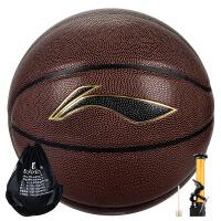 (领券立减30)李宁篮球LBQG030-P比赛训练用球PU球水泥地室外室内用球
