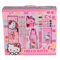 Hello Kitty 凯蒂猫 益智玩具 开学礼盒组 书包文具套装大礼盒 F-HK0083