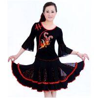 秋冬广场舞服 拉丁舞演出服 广场舞蹈服装  民族风表演服装套装