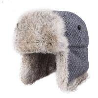 韩版秋冬帽潮兔毛雷锋帽女护耳帽 冬季保暖帽子男士皮草雷锋帽
