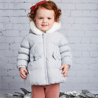 davebella戴维贝拉  女童秋冬羽绒服 宝宝加厚羽绒服