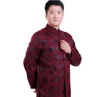 中老年唐装男士唐装外套老年人唐装大码加厚唐装棉袄中国风棉衣