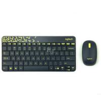 Logitech/罗技 MK240 Nano版 黑黄 色彩斑斓精简型无线键鼠套装  简约省电 全新盒装行货