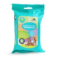 小树苗宝宝湿巾儿童湿纸巾专用手口湿巾婴儿湿巾柔湿纸巾25抽*4包