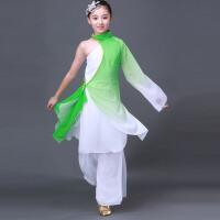 新款儿童服装舞台演出服水墨古典舞演出服少儿独舞舞蹈扇子舞古装