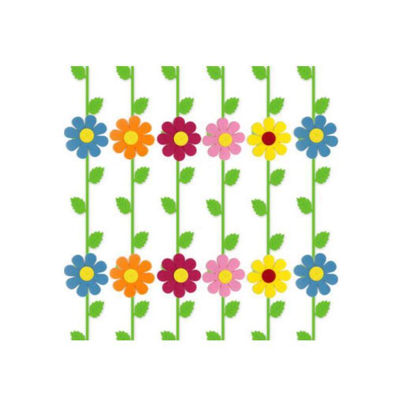 幼儿园教室装饰 彩色花吊饰 幼儿园吊饰 学校商场墙面贴画贴纸 树叶条