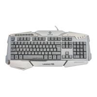 力胜 KB-168 七色炫光 航空铝合金表壳 网吧竞技发光键盘