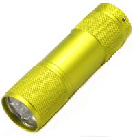 罗门礼品9LED铝合金迷你小手电  3节7号电池礼品手电