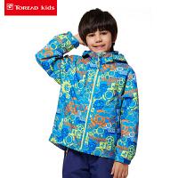 探路者童装 男童印花风格系列三合一套绒冲锋服