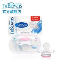 布朗博士美国原装进口安睡型婴儿用品硅胶安抚奶嘴(18个月)193 【美国原装进口】【采用 免吸空气通道有助于减少对上颚的压力,达到矫正牙齿的目的,让宝宝吮吸更舒适】