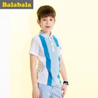 巴拉巴拉男童短袖T恤中大童上衣童装夏装儿童休闲POLO男
