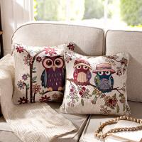 奇居良品 美式棉纱沙发床头靠垫抱枕方枕套【含芯】