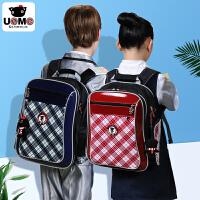 小学生书包男童1-3-6一年级小孩台湾unme英伦风儿童女双肩减负背包