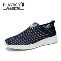 花花公子网布鞋2017年夏季新款时尚便捷套脚休闲鞋 德-CX39661