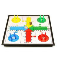 休闲UB友邦美式飞行棋磁性棋子折叠棋盘益智儿童游戏棋