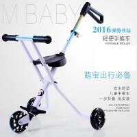 新款手推车溜遛娃神器折叠车超轻便铝合金儿童三轮车