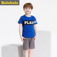 巴拉巴拉男童套装中大童套装童装夏装儿童短袖短裤两件套