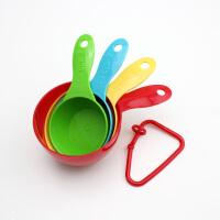 法克曼 塑料量杯 4件套彩色量勺 塑料勺子  量杯 烘培5208381