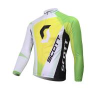 XINTOWN黄白骑行服长袖套装自行车服春秋季吸湿排汗速干衣