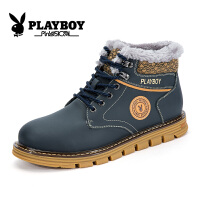 花花公子男靴冬季加绒雪地靴保暖高帮棉鞋男士短靴 征-CX39127M