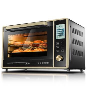 【ACA北美电器旗舰店】TM33HT 电子式家用智能烘焙烤箱 多功能电烤箱 蛋糕