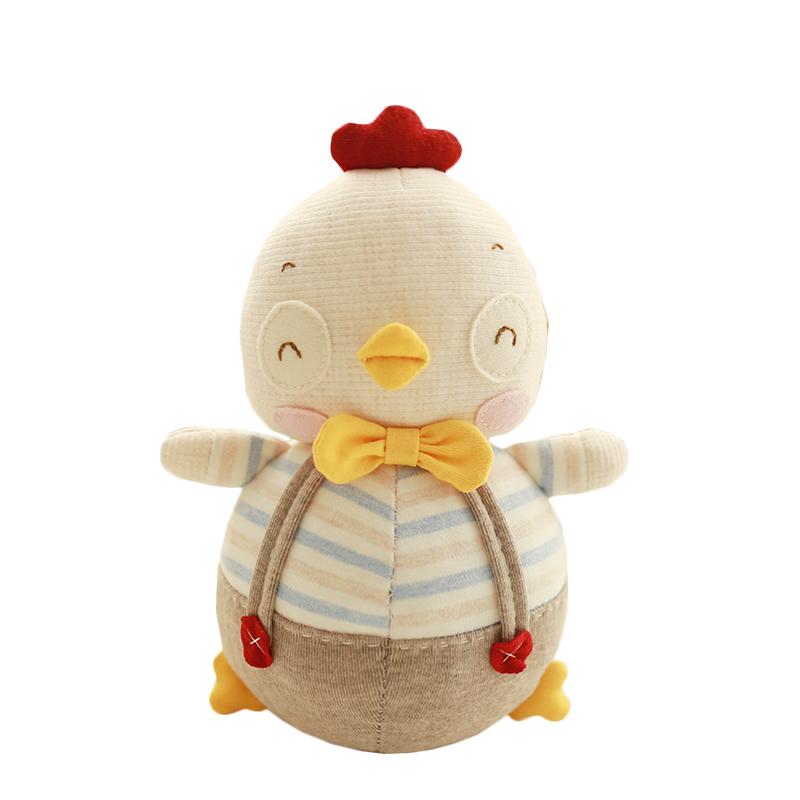 物有物语 不倒翁 儿童玩具 婴儿宝宝男孩女孩手工小萌鸡绅士玩偶婴幼