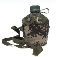 10水壶07式迷彩户外水壶南京七禾不锈钢军迷旅行水壶户外运动登山军用战术水壶
