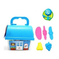 智高 3d彩泥12色屋形储蓄罐橡皮泥套装/DD-5029益智儿童玩具