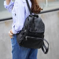 玛罗士 2017女包新款包包欧美潮双肩包女羊皮包潮旅行背包休闲真皮学院风书包
