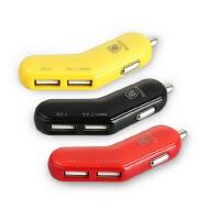 倍思苹果 ipad AIR2 PRO MINI4 汽车 iphone7 plus 车载充电器 点烟器 手机车用双usb接口车充头iphone6s plus