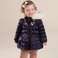 davebella戴维贝拉  女童冬季新款连帽羽绒服 宝宝加厚羽绒服