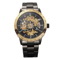 IK阿帕琦双面镂空男士手表全自动机械表黑壳带款休闲商务潮男腕表