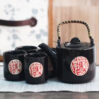 普润 中国风茶具套装茶具礼盒陶瓷茶具黑韵经典五件套