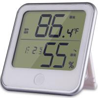 【满99-30满199-80】得力8959 温度计 挂壁式温度计/温湿度计 台式 儿童房家用 电子款