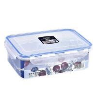茶花 保鲜盒 微波炉饭盒 杂粮收纳密封防漏塑料保鲜盒 1100ML 3004