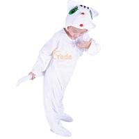 宝宝白猫表演衣服儿童演出服花猫 白猫女冬跳舞蹈衣小猫咪动物服装套装男春秋季