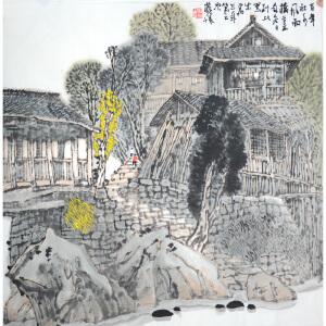 中国美协副主席黄格胜 百年社水风雨桥