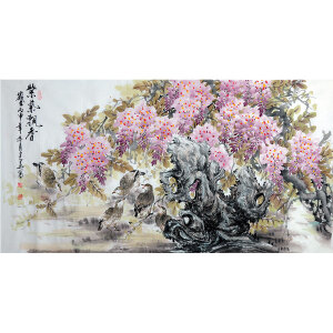 中国文化艺术家协会名誉主席 杨建华【紫气飘香】 Z2117