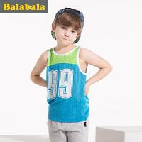 巴拉巴拉男童篮球背心中大童童装夏季儿童无袖运动背心男
