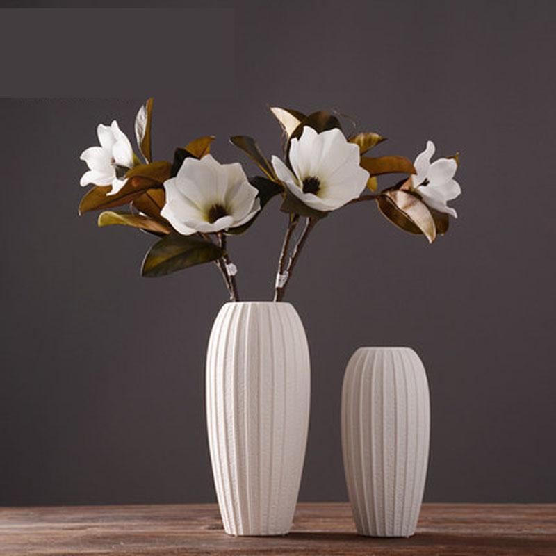 餐桌客厅家居装饰品陶瓷花瓶摆件 创意插花干花器图片