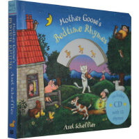 【英文原版】Mother Goose's Bedtime Rhymes(附CD)鹅妈妈经典童谣 纸板书 Axel Scheffler