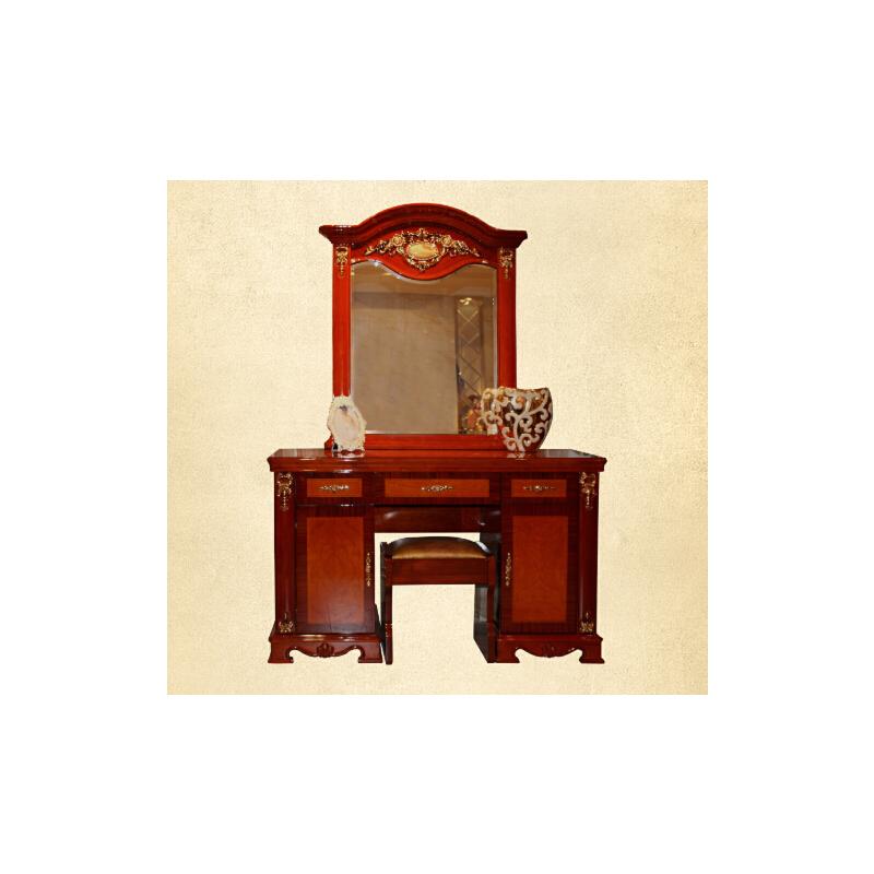 【御品工匠】新品实木梳妆台 欧式家具 卧室豪华小梳妆桌 923