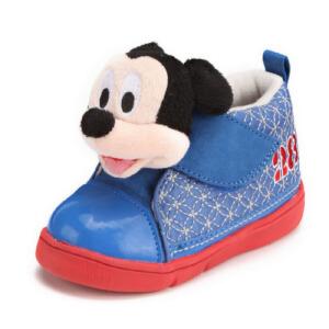 鞋柜SHOEBOX冬款男童花米奇魔术贴休闲鞋