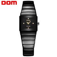 多姆(DOM)手表 陶瓷手表 时尚潮流石英表防水女士手链式手表
